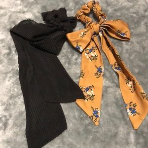 Two urban Outfitters ribbon bow scrunchies